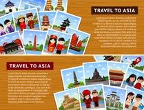 Reise zu den asiatischen Ländern stock abbildung