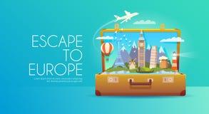 Reise zu Europa Stockbild