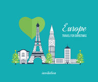 Reise zu Europa für Weihnachten Frohe Weihnachten Stockfoto
