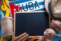 Reise zum Kuba-Konzepthintergrund Lizenzfreie Stockbilder