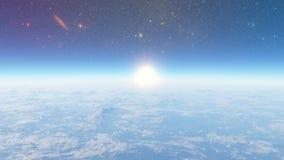 Reise zur Stratosphäre Stockfoto