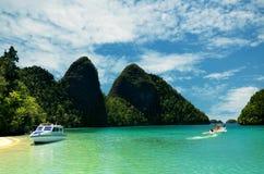 Reise zur tropischen Insel Stockfotos