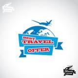 Reiseaufkleber Lizenzfreies Stockbild