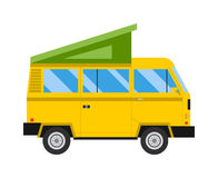 Reiseautofamilienurlaub-Vektorillustration Stockfotos