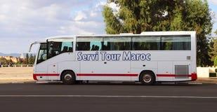 Reisebus in Marokko stockbild