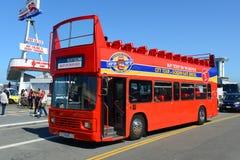 Reisebus in San Francisco, Kalifornien Stockfotografie