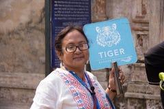 Reiseführer in Indien lizenzfreie stockfotos