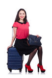 Reiseferienkonzept mit Gepäck Lizenzfreie Stockbilder