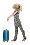 Reiseferienkonzept mit Gepäck Stockbild