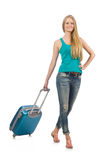 Reiseferienkonzept mit Gepäck Stockfotos
