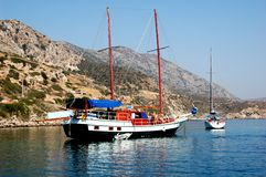 Reiseflug auf Schooner in der Türkei Lizenzfreie Stockfotos