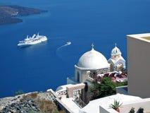 Reiseflug in den griechischen Inseln Lizenzfreies Stockfoto