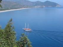 Reiseflug des blauen Wassers Lizenzfreies Stockfoto