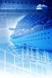Reiseflug-Konzept-Hintergrund Stockfotos