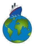 Reiseflug um die Welt Lizenzfreies Stockbild