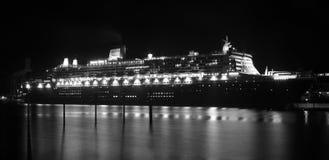 Reiseflug-Zwischenlage Queen Mary-2 in Sydney, Australien Lizenzfreies Stockbild