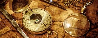 Reisegeographienavigations-Konzepthintergrund Stockbilder