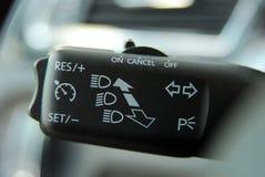 Reisegeschwindigkeitskontrollen-Knopf Stockfotos