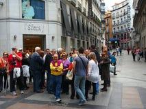 Reisegruppe, Madrid Lizenzfreies Stockbild