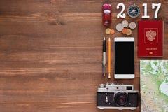 Reisehintergrund für 2017-jähriges Lizenzfreie Stockfotografie