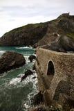 Reiseidee, die San Juan de Gaztelugatxe, baskisches Land, Spanien besichtigt Stockbilder