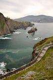 Reiseidee, die San Juan de Gaztelugatxe, baskisches Land, Spanien besichtigt Lizenzfreie Stockfotografie