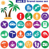 Reiseikonen eingestellt (Farbe) Stockfoto