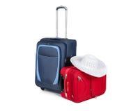 Reisekoffer lokalisiert auf weißem Hintergrund Stockfoto