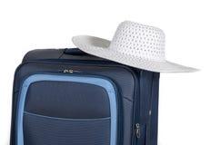 Reisekoffer lokalisiert auf weißem Hintergrund Lizenzfreie Stockfotografie
