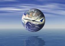 Reisekonzept (einige Elemente benutzt von der NASA) lizenzfreie abbildung