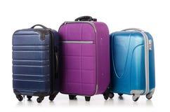 Reisekonzept mit Gepäck suitacase Stockfotografie