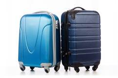 Reisekonzept mit Gepäck suitacase Stockbild