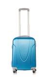Reisekonzept mit Gepäck suitacase lokalisiert Stockfotografie