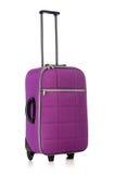 Reisekonzept mit Gepäck suitacase lokalisiert Lizenzfreies Stockbild