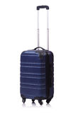 Reisekonzept mit Gepäck suitacase lokalisiert Lizenzfreie Stockfotografie