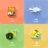 Reisekonzepte, Vektorillustration Lizenzfreie Stockfotos