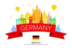 Reisemarkstein Deutschlands, Berlin vektor abbildung