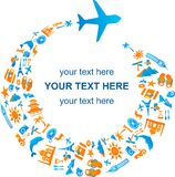 Reisen auf dem Luftweg lizenzfreie abbildung