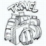 Reisen-Beutel-Zeichnung Stockfoto