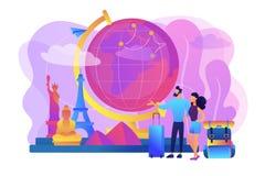 Reisen die Weltkonzept-Vektorillustration vektor abbildung