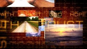 Reisen durch Glauben-Bilder 1 stock video footage
