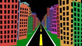 Reisen durch Karikatur-Gebäude 1 vektor abbildung