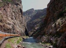 Reisen entlang den Fluss Stockbild