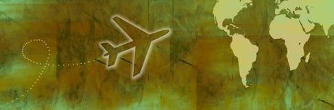 Reisen-Fahne Lizenzfreie Stockfotos