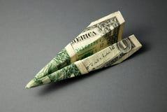Reisen-Geld (US-Dollars) Stockbild