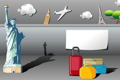 Reisen-Hintergrund Stockfoto