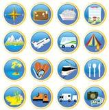 Reisen-Ikonen Stockbilder