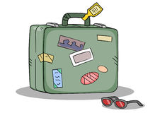Reisen-Koffer-Farbtöne Lizenzfreies Stockbild