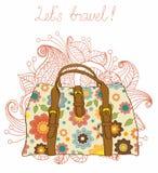 Reisen-Koffer-Hintergrund Lizenzfreie Stockfotos