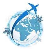 Reisen mit dem Flugzeug lizenzfreie abbildung